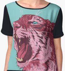 Magenta tiger Chiffon Top