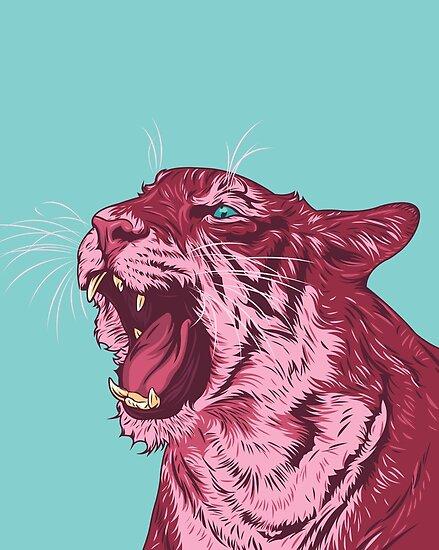 Magenta Tiger von Roland Bánrévi