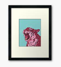 Magenta tiger Framed Print