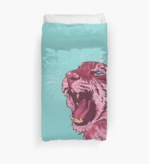 Magenta tiger Duvet Cover