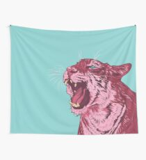 Magenta tiger Wall Tapestry