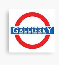 London Underground Gallifrey Canvas Print