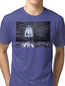 Room with Gothic Window 2 Tri-blend T-Shirt