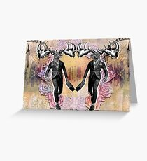 Business Stag Greeting Card