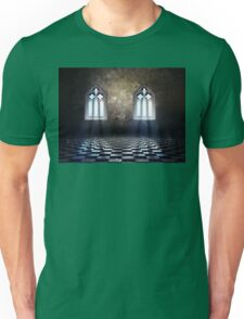 Room with Gothic Window 3 Unisex T-Shirt