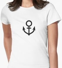Jojo - Soft & Wet Anchor (Variant 2, White) Womens Fitted T-Shirt