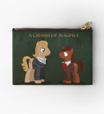 Charm of Magpie pony art on green Studio Pouch