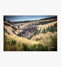 Pen Pych Waterfall above Blaencwm in the Rhondda Valley Photographic Print