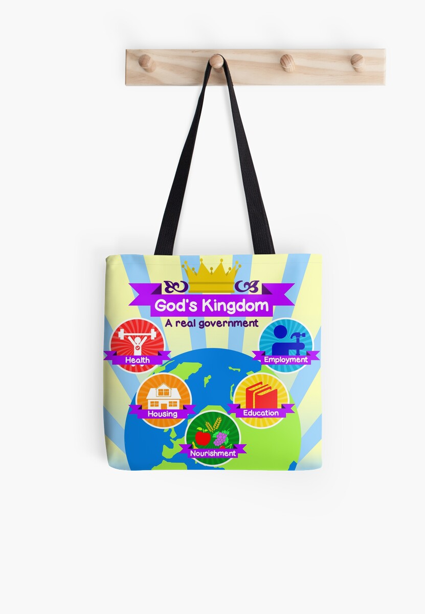 God 39 s kingdom tote bags by jw arts crafts redbubble for Arts and crafts tote bags