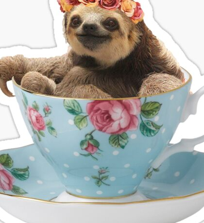 Cute Teacup Sloth Sticker