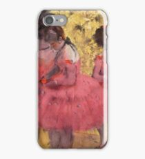 The Pink Dancers, Before the Ballet - Edgar Dega iPhone Case/Skin