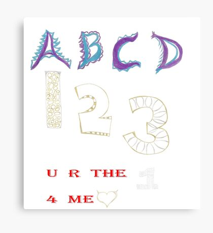 Alphanumeric Love Canvas Print