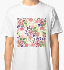Watercolor garden flowers Classic T-Shirt