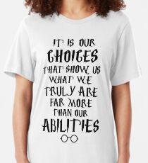 Dumbledore quote Slim Fit T-Shirt
