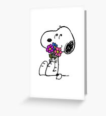 Snoopy Springtime Greeting Card