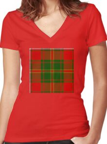 Hay Plaid Women's Fitted V-Neck T-Shirt