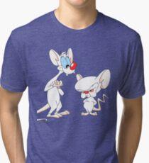 Best Friend Pinky And Brain Tri-blend T-Shirt