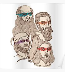 Leonardo, Michelangelo, Donatello, and Raphael... Oh and Splinter Poster