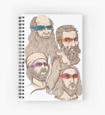 Leonardo, Michelangelo, Donatello, and Raphael... Oh and Splinter Spiral Notebook