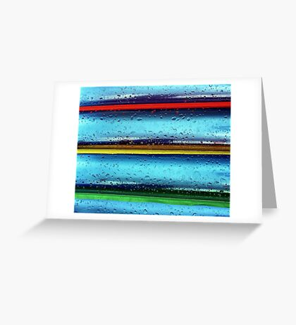 Colours in the rain Greeting Card