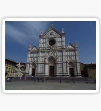 Santa Croce. Neo-Gothic Facade Sticker