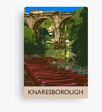 Knaresborough, river Canvas Print