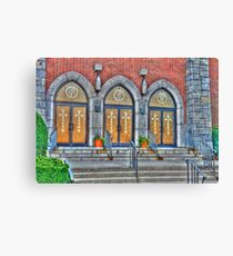 Old churh entrance doors-HDR Canvas Print