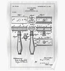 Patent Image - Razor - White Poster