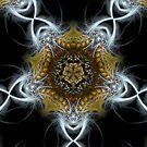 Golden Fractal Shields by webgrrl