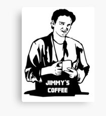 Jimmy's Coffee Pulp Fiction Canvas Print