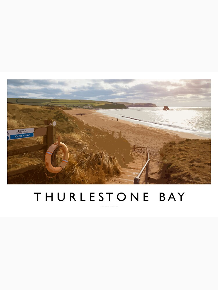 Thurlestone Bay (Railway Poster) by andrewroland