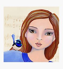 Macy And The Blue Wren Photographic Print