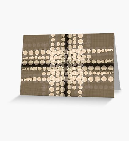Abstract Latte Card Greeting Card