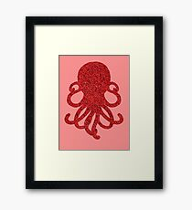 Red Glitterpus Framed Print