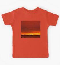 Crimson and amber world Kids Tee