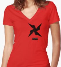Sans Heart Women's Fitted V-Neck T-Shirt