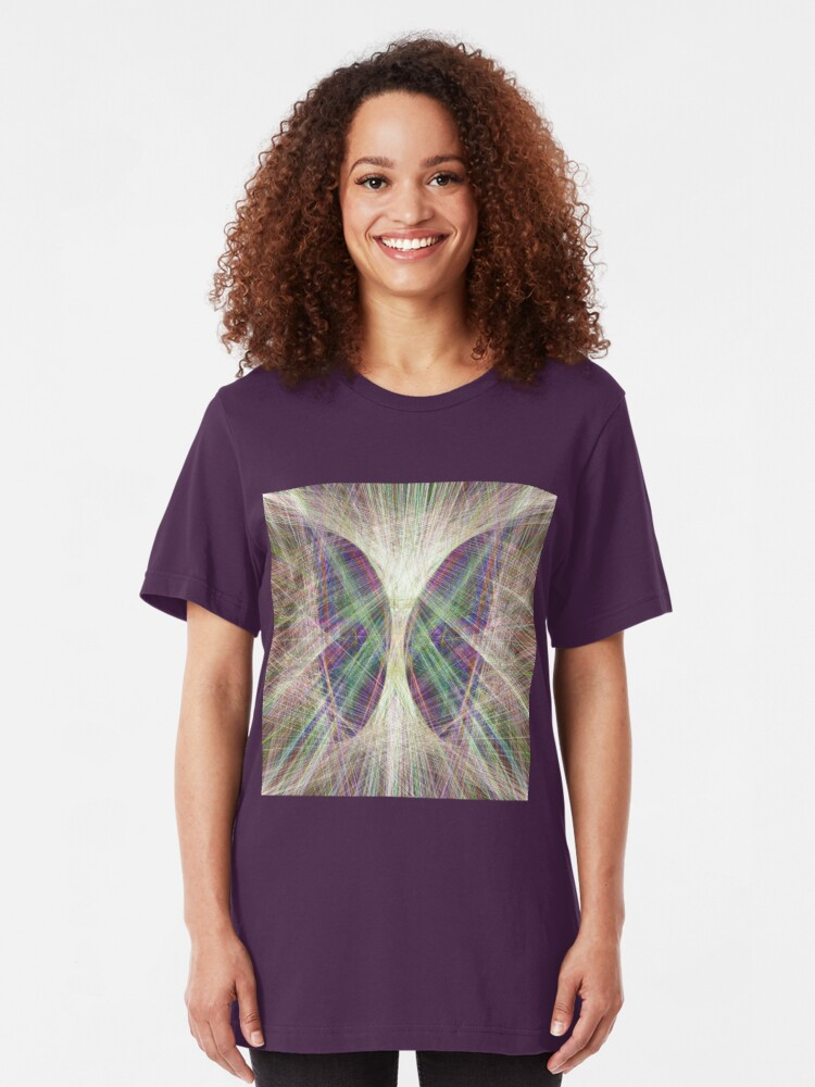 Alternate view of Linify Light butterfly Slim Fit T-Shirt