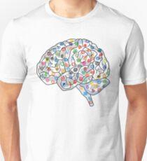 Social Media Human Brain  T-Shirt
