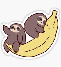 Pegatina Perezosos y Plátano Gigante