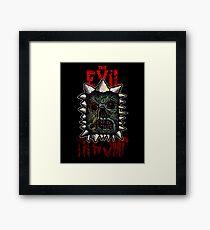 The Evil Thwomp Framed Print
