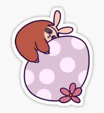 Sloth Hugging Giant Easter Egg Sticker