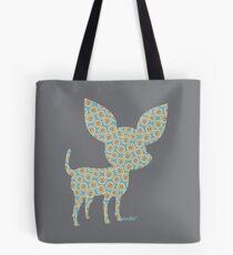 Bubble chihuahua profile silhouette Tote Bag