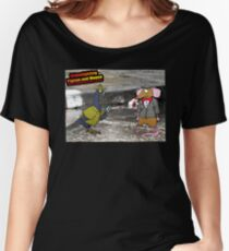 Crime Fighting Pigeon and Mouse  Women's Relaxed Fit T-Shirt