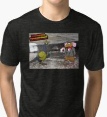 Crime Fighting Pigeon and Mouse  Tri-blend T-Shirt