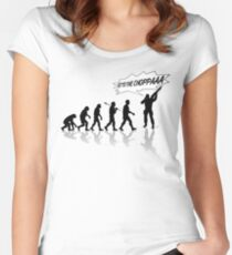 Get to the choppa! Women's Fitted Scoop T-Shirt