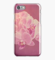 Photo art antiqued pink orchid iPhone Case/Skin