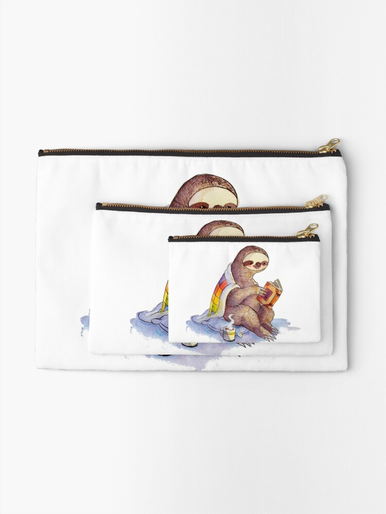 Alternate view of Cozy Sloth Zipper Pouch