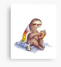 Cozy Sloth Metal Print