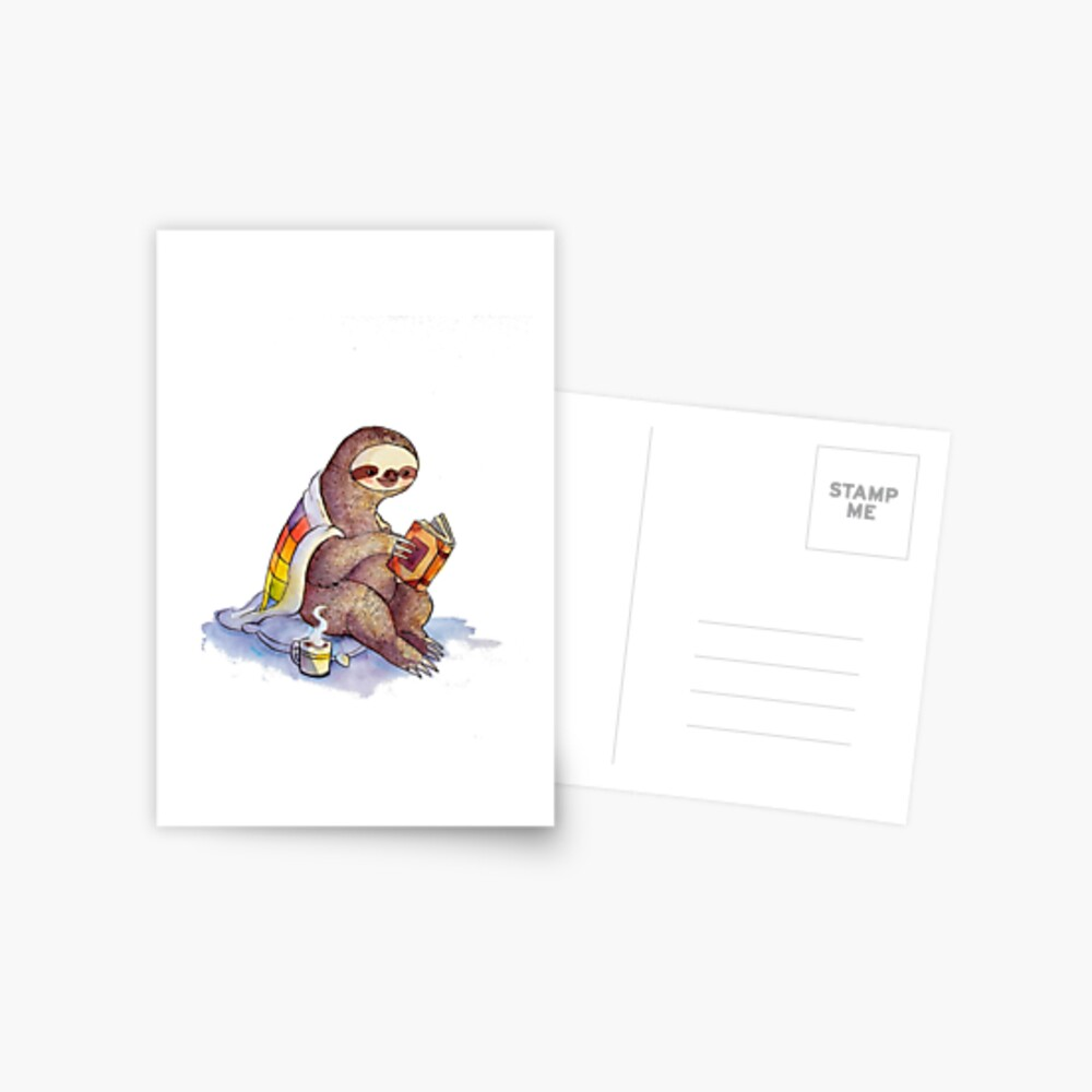 Gemütliches Faultier Postkarte