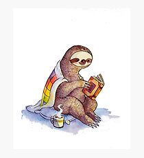 Cozy Sloth Photographic Print